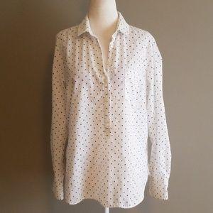 J Crew long sleeved blouse